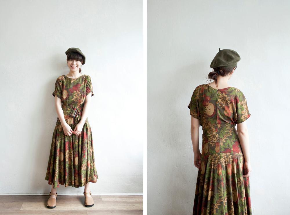 NBV5052 greco izuki tropical fruits flare dress (with belt) price: HK$348 / NT$1490 handpicked in korea  也在賣 \\ 帽子