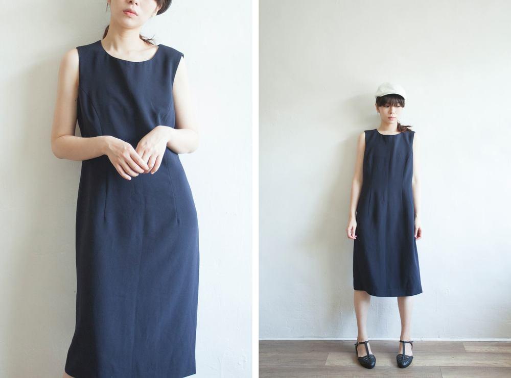 NBV5102 aimoi dark navy classic sheath dress price: HK$328 / NT$1410 made in japan  也在賣 \\ 帽子 \ 鞋子