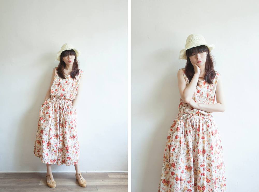 NBV5082 josiah roses ribbon tied cotton summer dress price: HK$278 / NT$1200 handpicked in korea  也在賣 \\ 帽子 \ 鞋子