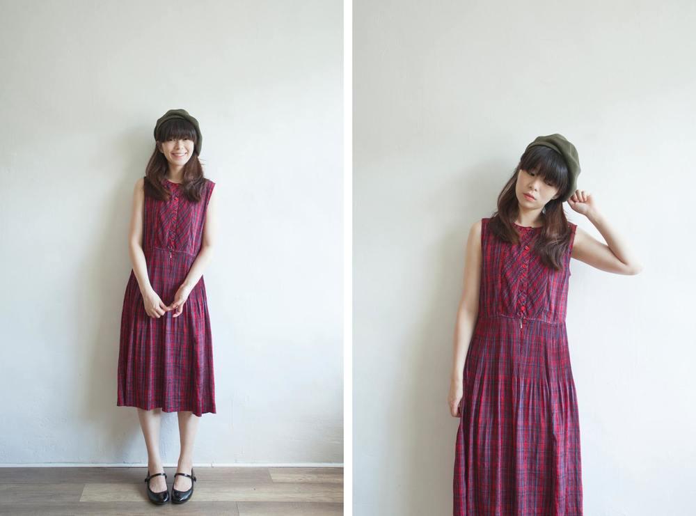 NBV5092 kathleen cross tartan summer dress discounted price: HK$188 / NT$800 price: HK$248 / NT$1070 handpicked in korea  也在賣 \\ 帽子 \ 鞋子