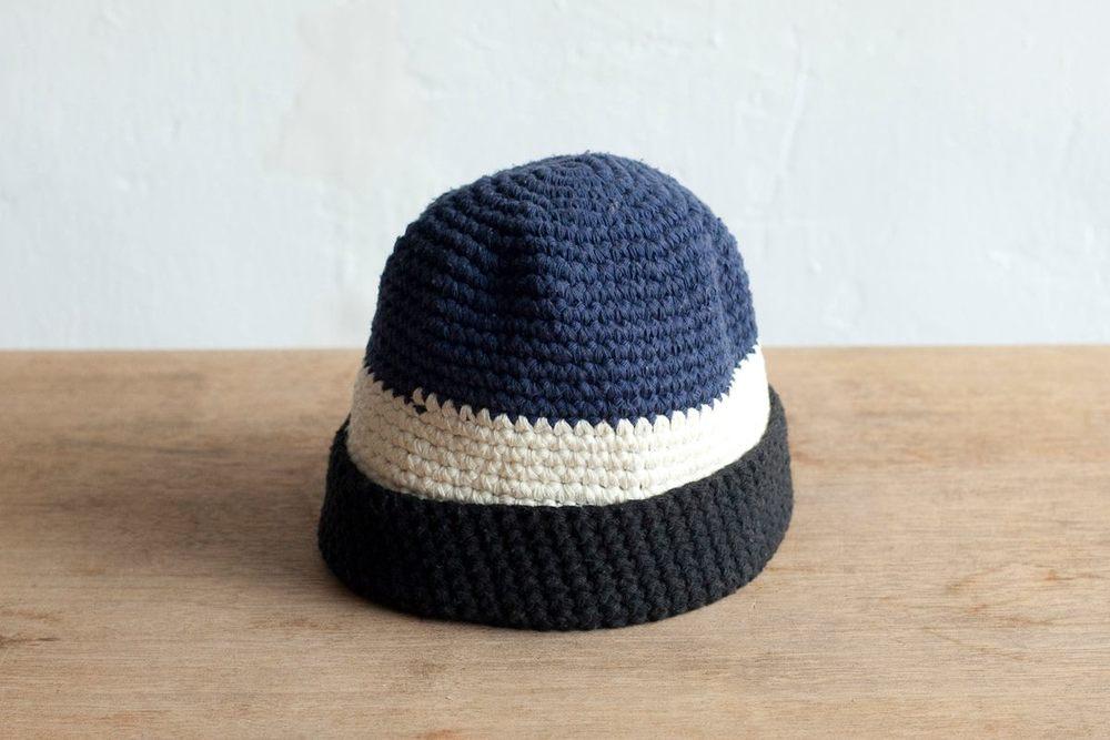NBV5224 summi navy x white stripe knit hat price: HK$168 / NT$720 handpicked in korea  head size 52cm