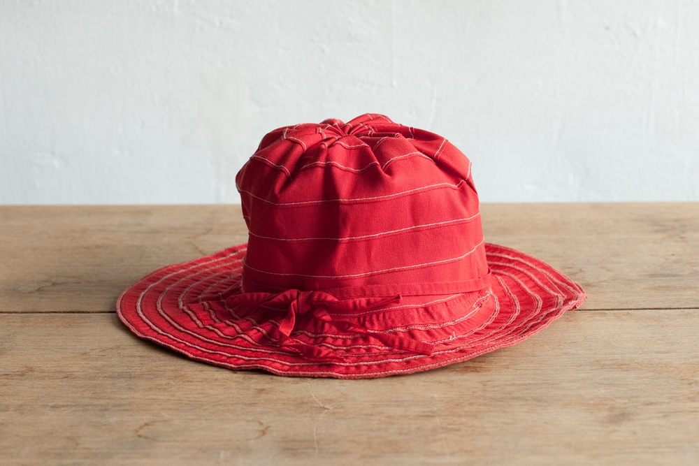 NBV5226 kaelora red stripe floppy hat price: HK$238 / NT$1020 handpicked in korea  head size 56cm