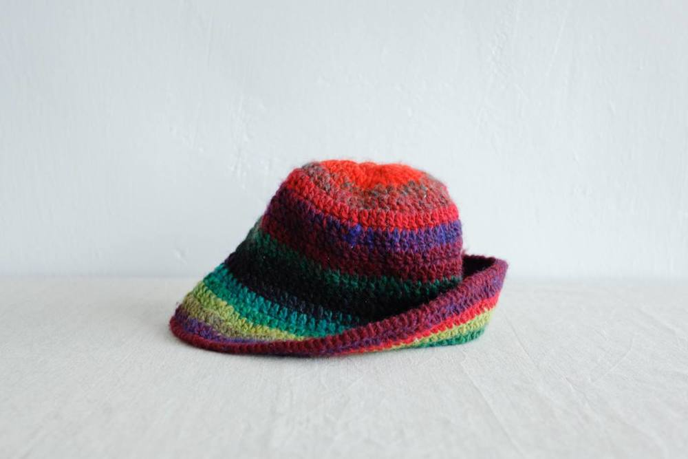NBV5234 rainbow knit bucket hat price: HK$168 / NT$720 handpicked in korea  measurement (cm) head size 55