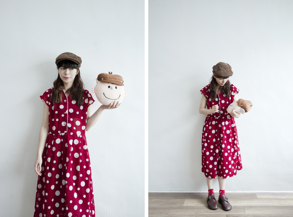 NBV5249 kocomi wrap neckline polka linen dress price: HK$298 / NT$1280 handpicked in korea