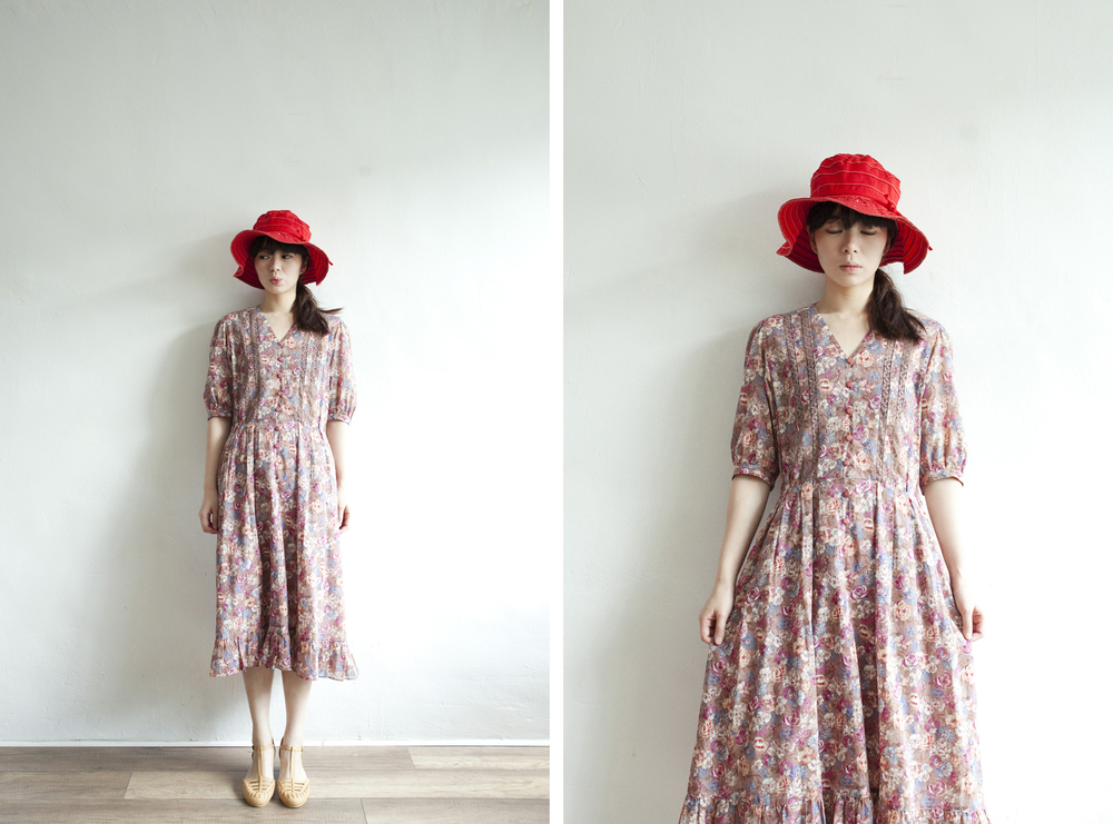 NBV5258 lapine lace rose ruffle pleats hem dress price: HK$368 / NT$1580 made in japan
