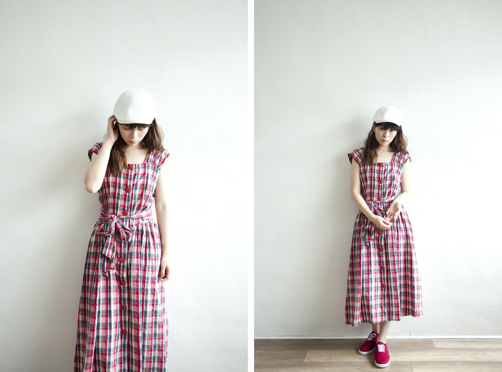 NBV5257 sun angelo crepe cotton plaids strap dress price: HK$388 / NT$1670 handpicked in japan