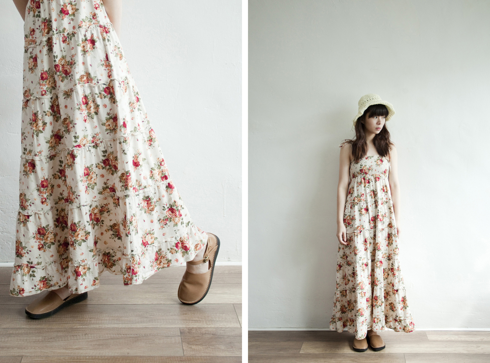 NBV5252 wancie summer rose tiered maxi dress price: HK$388 / NT$1670 handpicked in japan