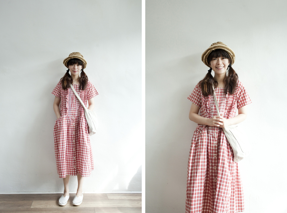 NBV5351 lena ruffle plaids creased pocket cotton dress price: HK$348 / NT$1490 handpicked in korea