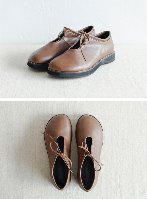 NBA968 maxen loop hole ribbon tied shoes   early bird price: HK$348 / NT$1500    regular price: HK$398 / NT$1710    color: brown     size: 230 - 250    handpicked in korea      measurement (cm)    heel height 2.5