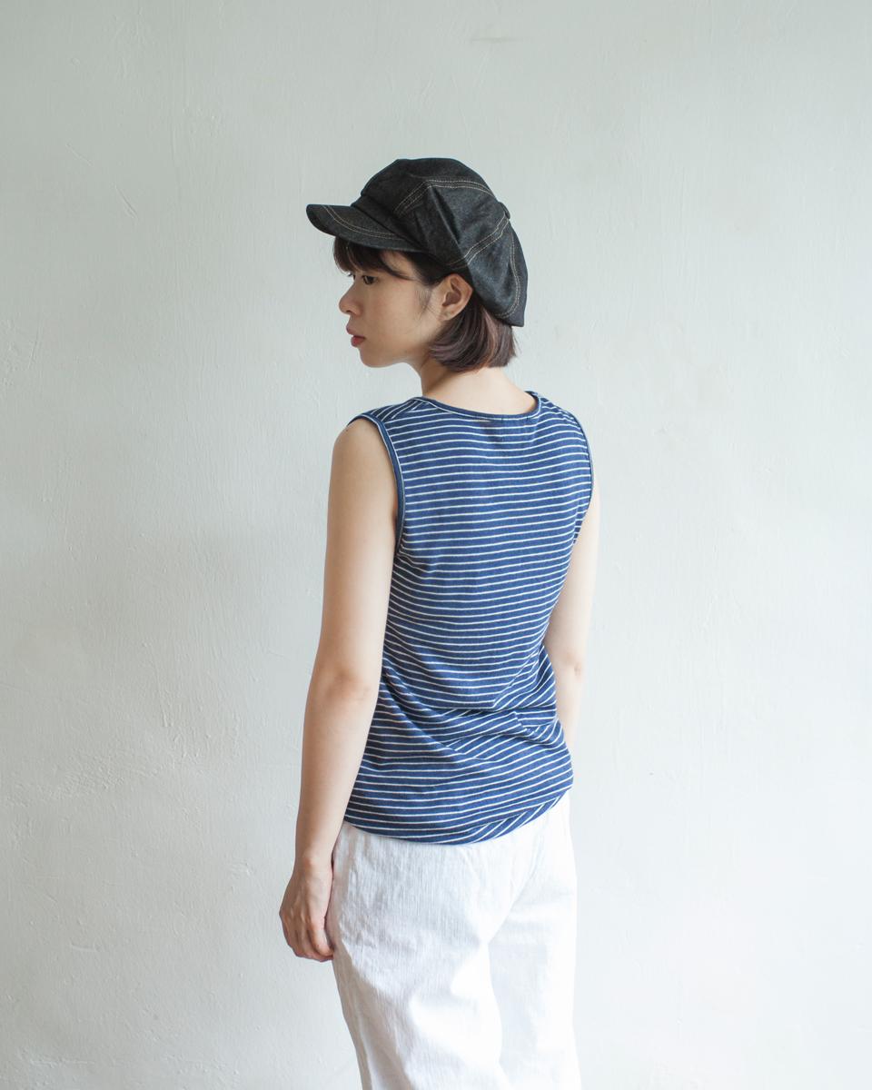 TOP |NBT807 gayle stripe vest 3 color: white / navy / red
