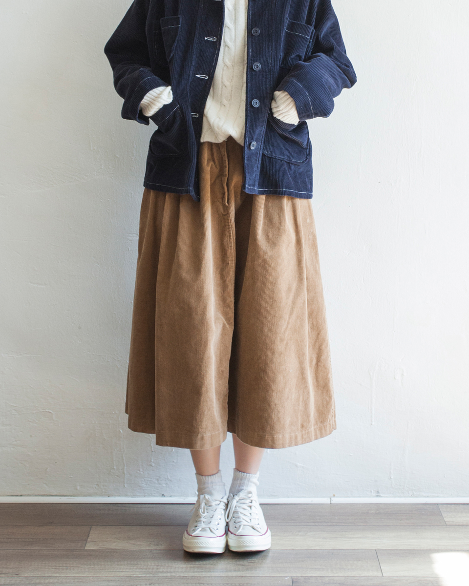 NBB262 banding waist corduroy a line skirt | teddy brown | HK$348 NT$1430