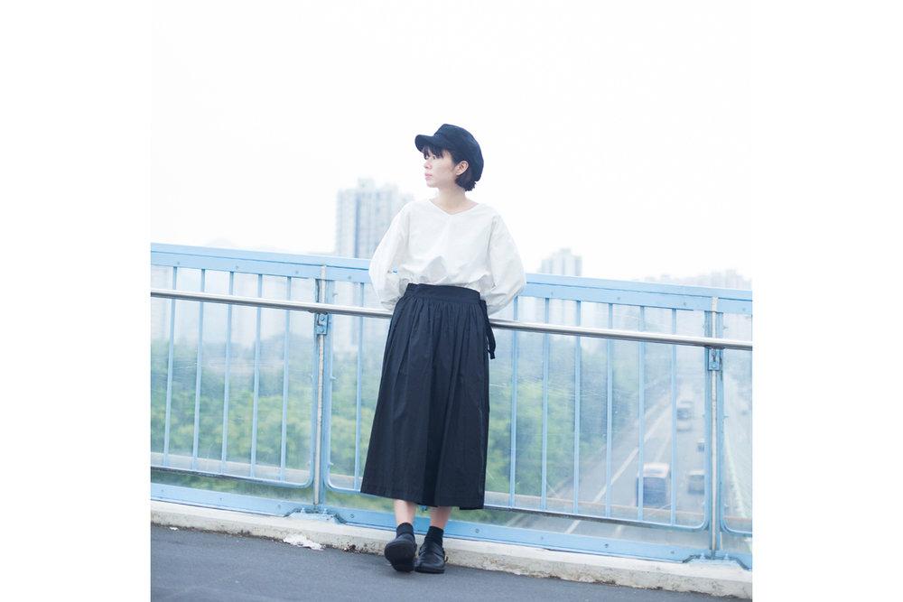 NBB253 ribbon tied pleats flap skirt | black | HK$358 NT$1470