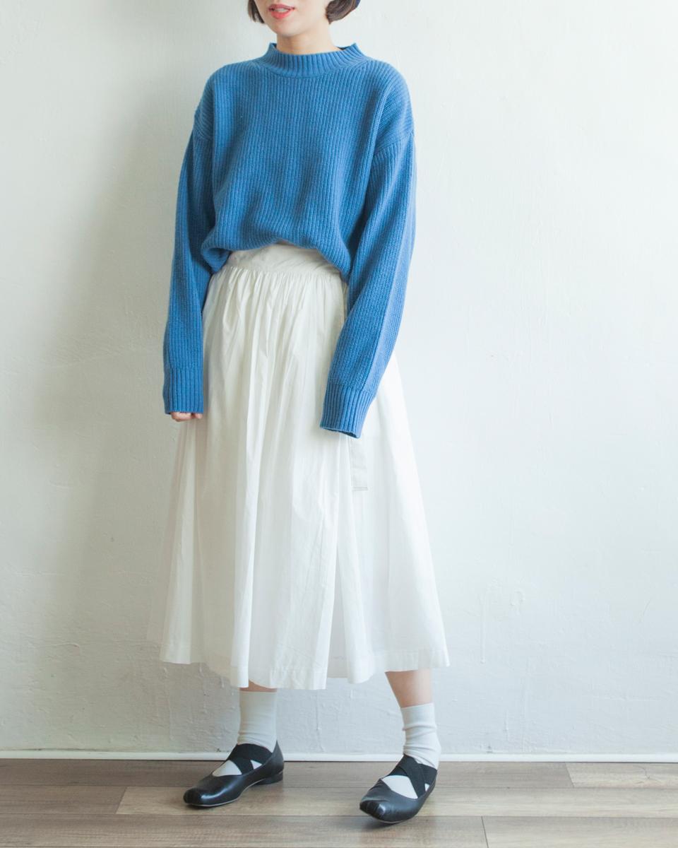 NBB253 ribbon tied pleats flap skirt | white | HK$358 NT$1470