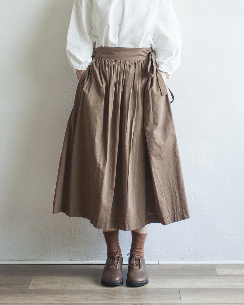 NBB253 ribbon tied pleats flap skirt | brown | HK$358 NT$1470
