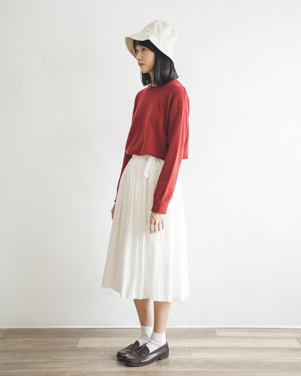 NBT833 minimal cashmere wool mixed sweater | berry red | HK$298 NT$1230