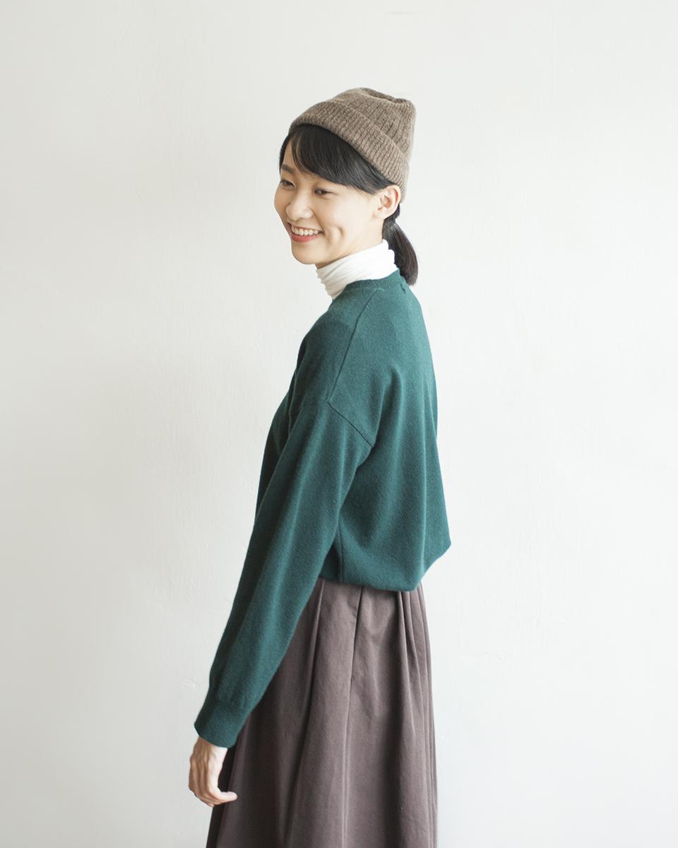 NBT833 minimal cashmere wool mixed sweater | hunter green | HK$298 NT$1230