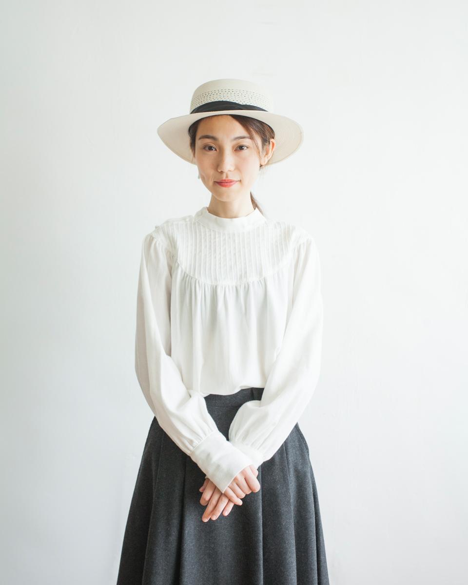 NBT835 high neck panel pleats buttoned blouse | white |HK$278 NT$1140