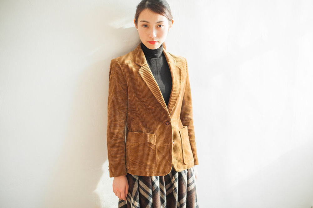 OUTER | NBV6263 dauphine teddy brown corduroy blazer