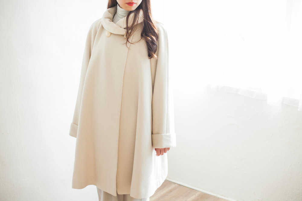 OUTER | NBV6261 soleli puff collar wool cape coat