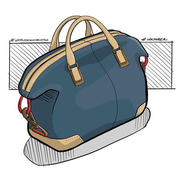 Knocking out #weeklydesignchallenge and #inktober in one go! . . . #handbagdesign #handbag #drawing #fashion #id #productdesign #sketch #process #idsketching #sketching #sketchbook #illustration  #conceptsketch #ideation #bagdesign #design #softgoods