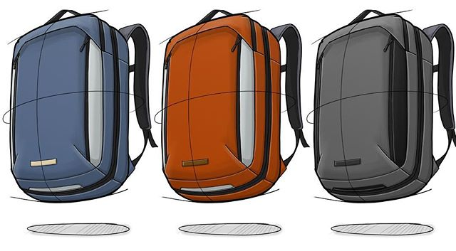 Some color ups from the @knackbags development. . . . . #backpackdesign #id #productdesign #sketch #process #idsketching #sketching #sketchbook #illustration  #conceptsketch #ideation #bagdesign #design #softgoods #backpack #adventuretravel #travel #cordura #everydaycarry #edc #travelbackpack #onebackpack #knackbags