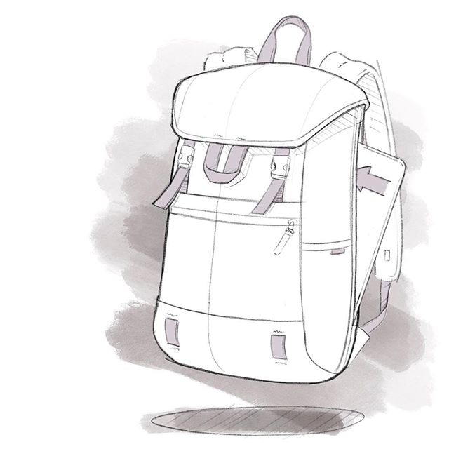 Last one in the series . . . #backpackdesign #id #productdesign #sketch #process #idsketching #sketching #sketchbook #illustration  #conceptsketch #ideation #bagdesign #design #softgoods #backpack #outdoors #camping #cordura #everydaycarry #edc