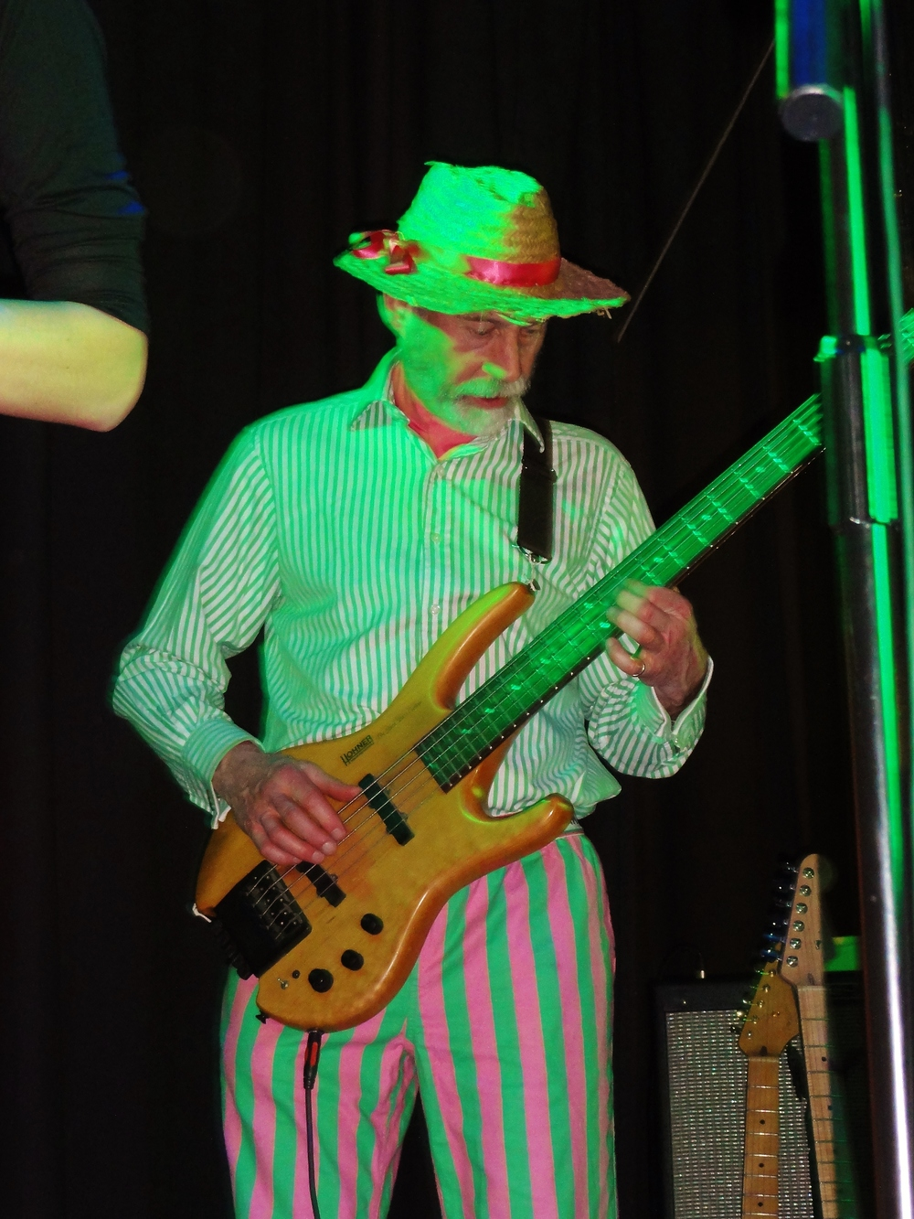 Richard  - Veteran Musicologist and guitar botherer Richard is the hub of the band which bears his name. Always prepared to hover menacingly near a microphone, Richard's unique approach to musical theory is what gives the band its characteristic sound. Claims that Richard is a descendent of Regency Dandy Beau Brummell are, as yet, unfounded.
