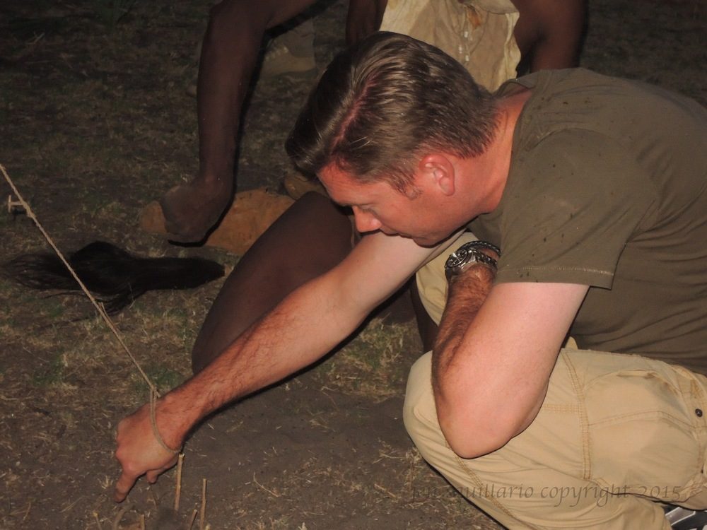 Ian gets caught in bushman's bird snare