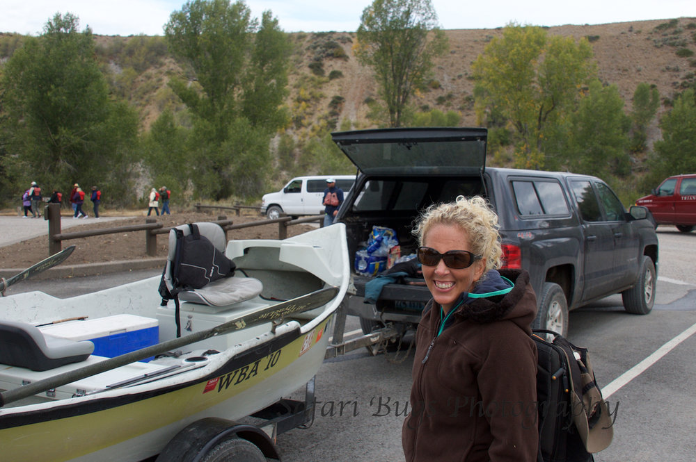 Then into Grand Teton National Park to get the boat in the river.