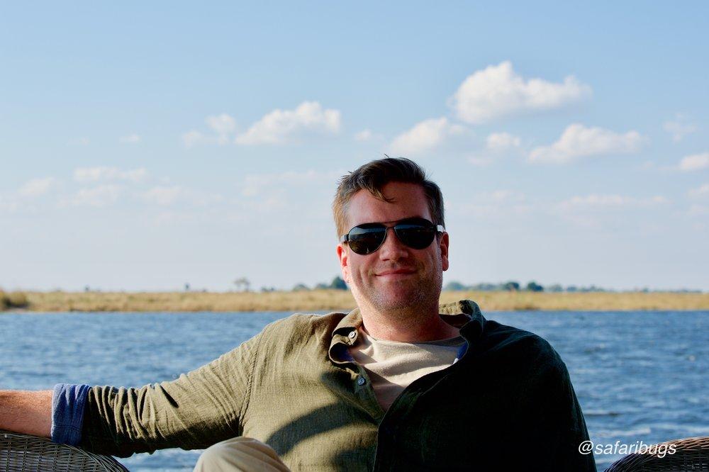 Ian on the boat