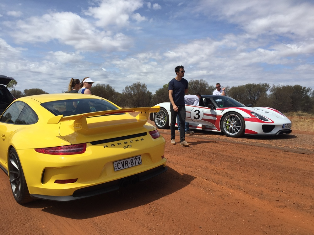 A 911 GT3 played part as a support vehicle.