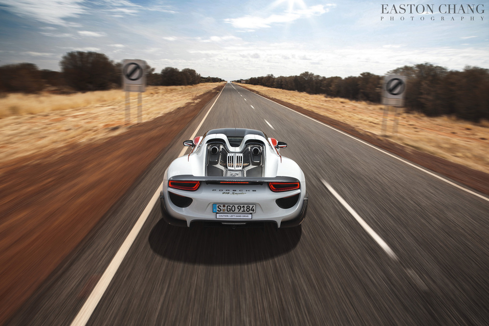 The 918 enters the open speed section of the Stuart Highway..