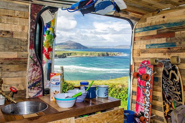 Baydreaming of days like these... and looking forward to adventures to come with @clairec_ 🤙🏻 @baydreamco 🌊🏝 . . . #baydream #daydream #seaview #summertime #adventure #sustainable #lifestyle #circulareconomy #handmade #vanlife #diy #vanbuild #campervan #vanconversion #ocean #waves #surf #ireland #westcoast #vscoireland #irelandswildwest #westcoast #wildatlanticway #donegal #roadtrip