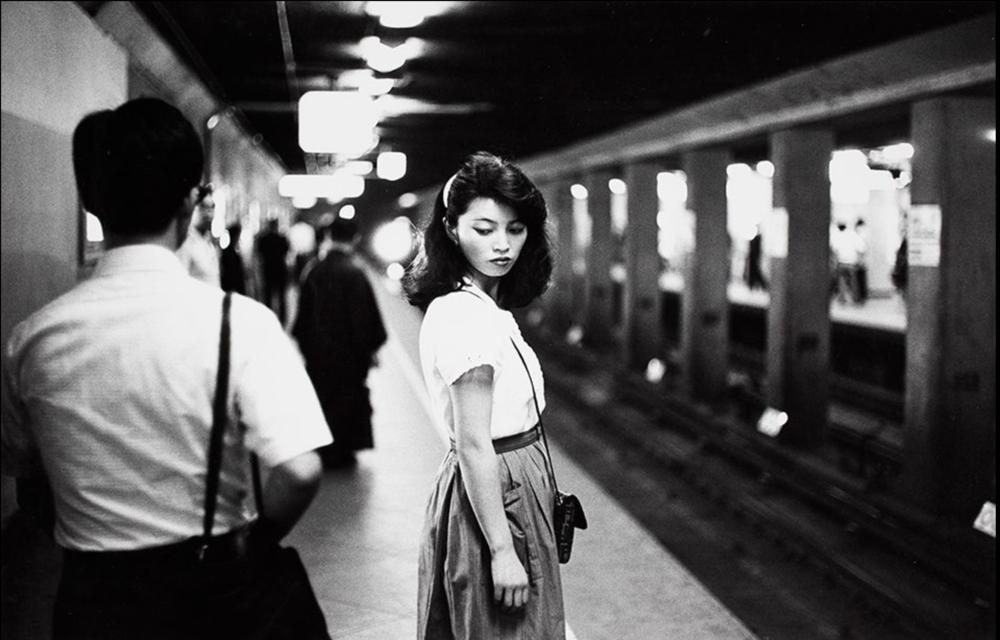 Van der Elsken, Ed. Girl in the Subway, Tokyo. 1984