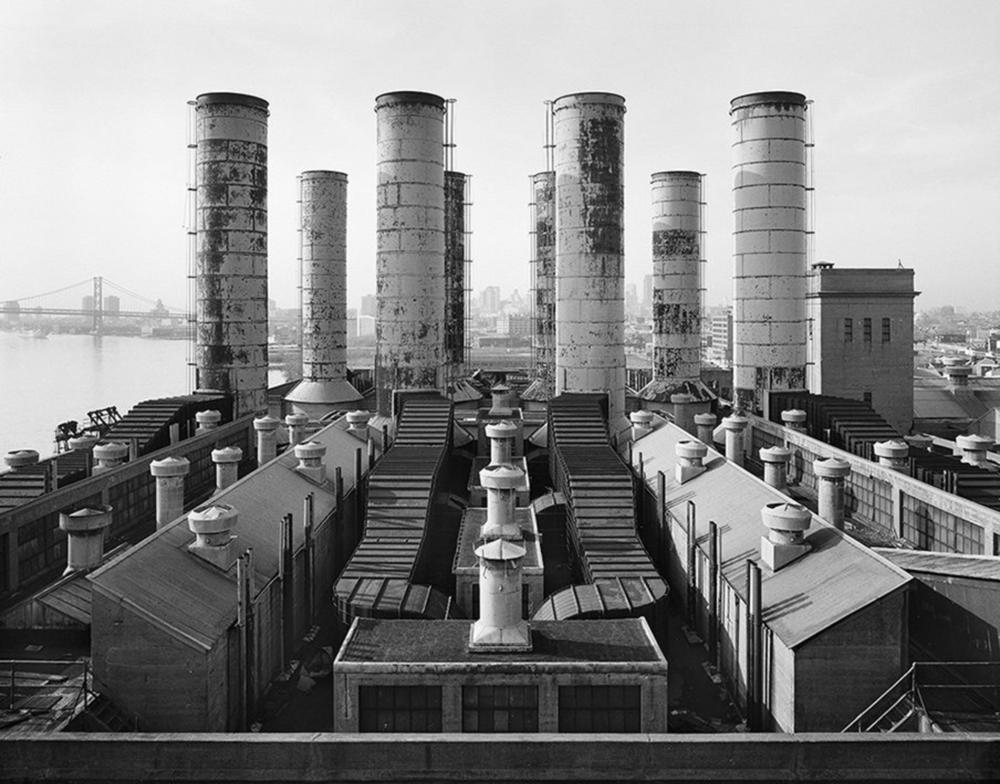 E.B. Elliott, Joseph. Delaware Station, view looking southwest across roof of the Boiler Houses. 2000-2002