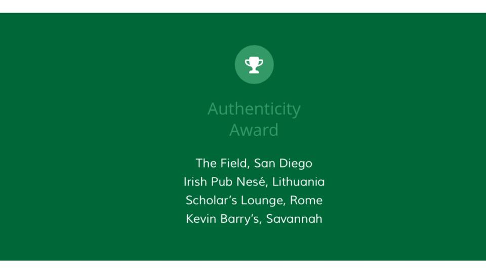 Irish Pubs Global Will announce the winner on 27th of Sept at a Gala Dinner in Dublin.  Fingers crossed!!!  Read more here:   http://www.irishpubsglobal.com/awards/