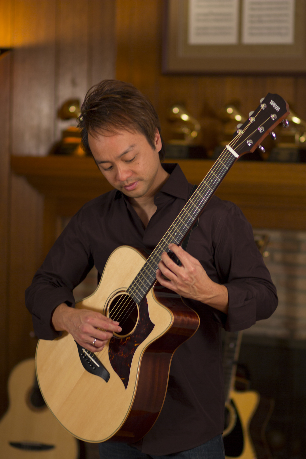 At home with the Yamaha AC3M guitar