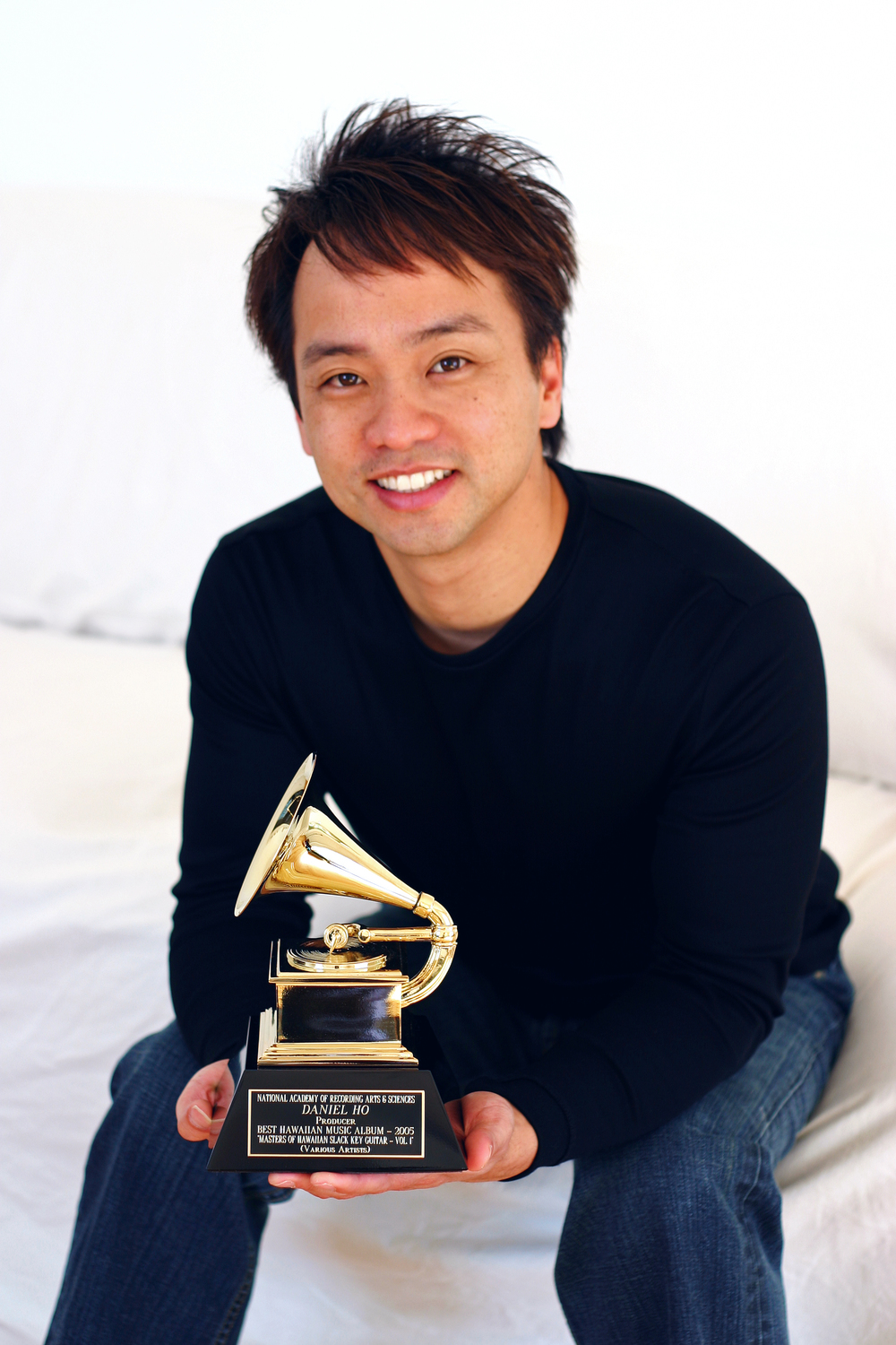 Daniel with Grammy Award