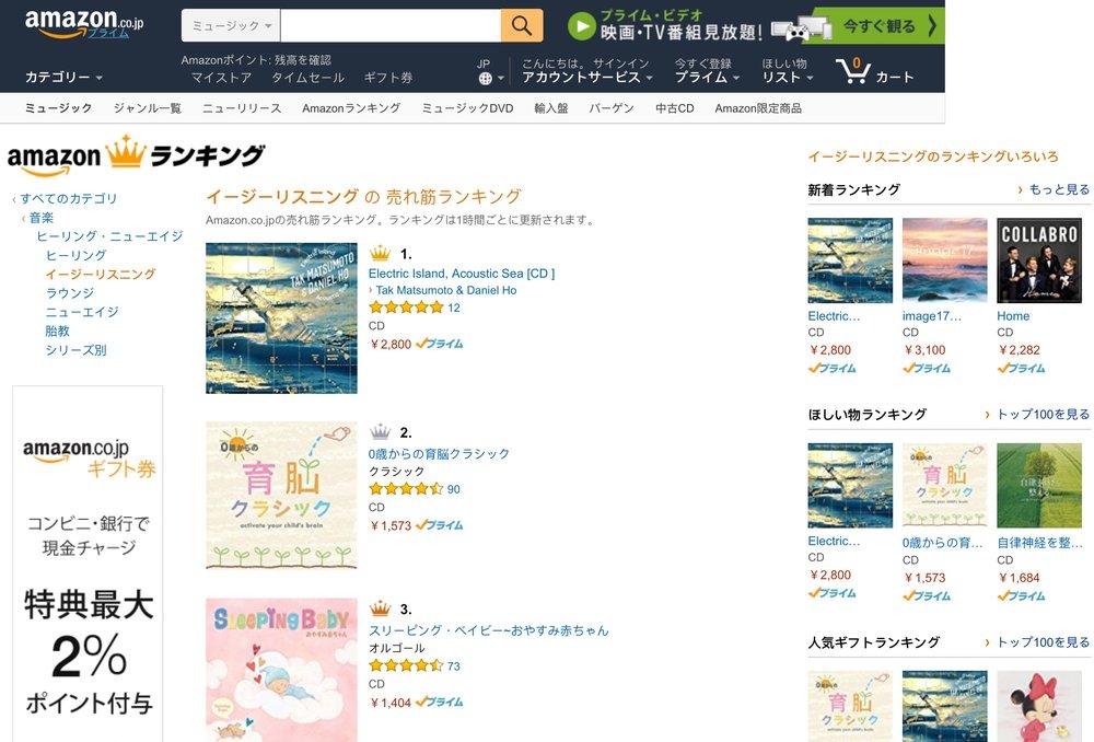 #1 on Amazon Japan