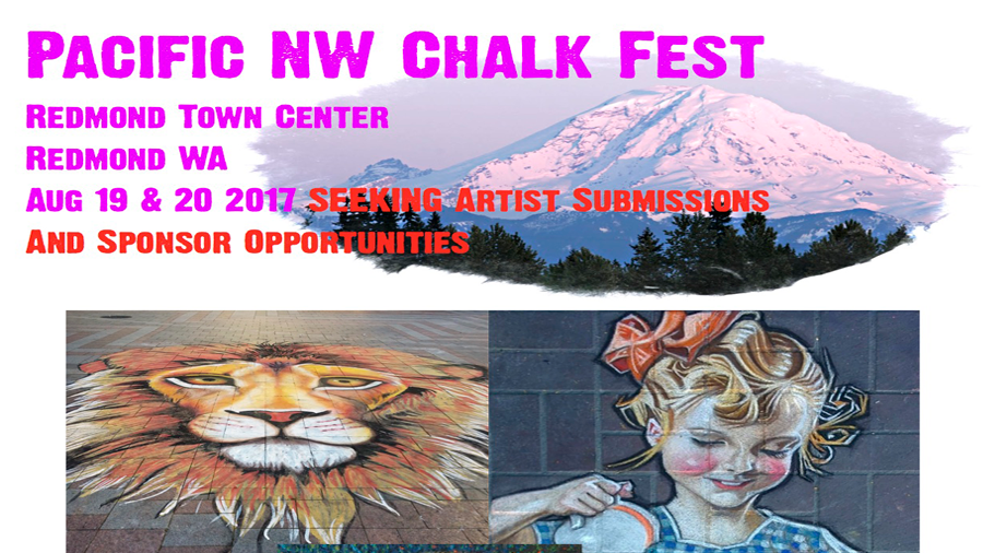 Thanks to a Tourism Grant from the City of Redmond, Wa, we are please to begin a new tradition. Located at Redmond Town Center, we will host international, professional, amateur, and student artists as they transform the streets into pastel masterpieces.