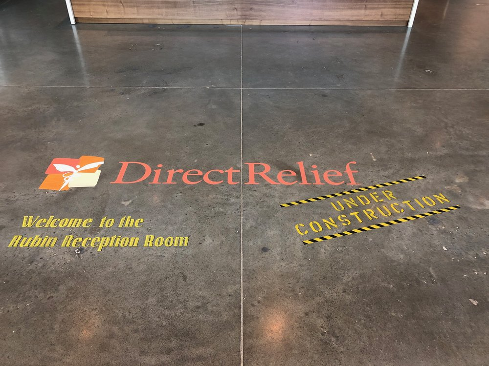 Main lobby of Direct Relief's new building