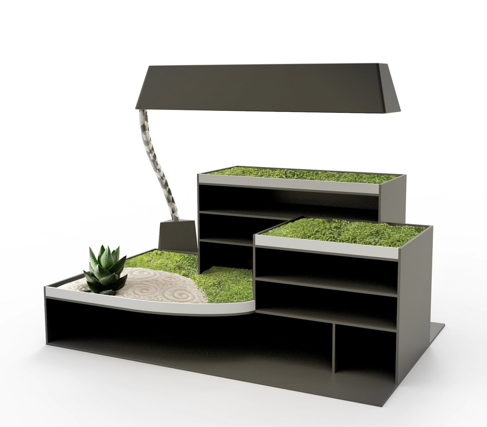 Locus Office Grow Light.  Designed to highlight the mental health benefits of plants in the workplace