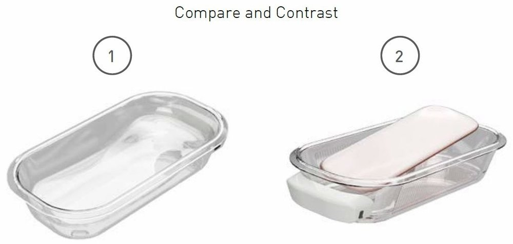Example research question to test priorities: Would the user rather have a rigid contour that's easy to clean or a soft insert that may get lost over time?