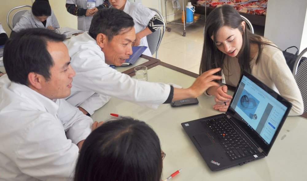 Concept review with Head Nurse at Moc Chao District Hospital in Vietnam