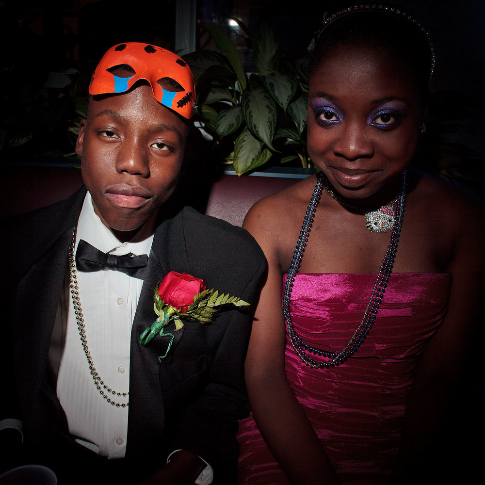 (L-R) Mikiel Davis 15, Sickle Cell Anemia with date. May 2011, Bronx, NY.