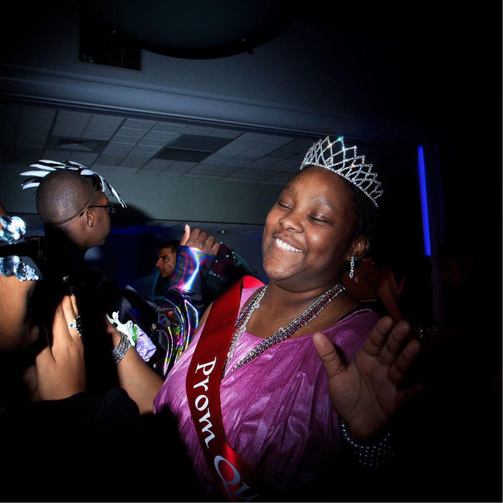 Kiara O'Loughlin 17, germ cell tumor, is crowned Prom Queen at Montefiore Children's Hospital Annual Prom. May 2011, Bronx, NY.