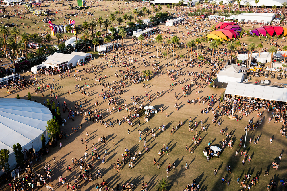 An aerial view of Coachella.