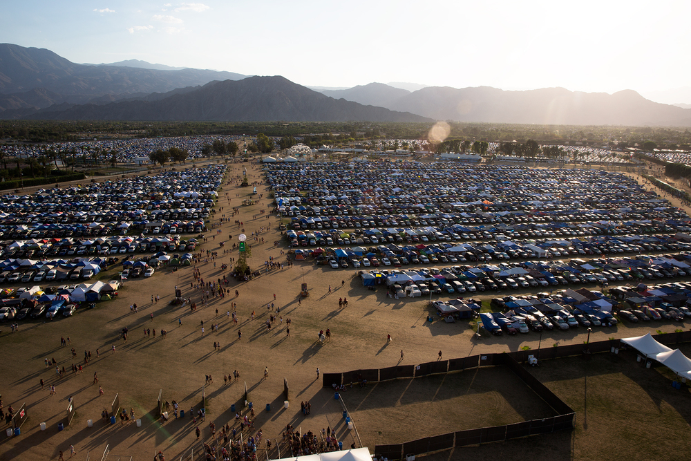 The Coachella campground. Coachella tickets sold out in less than an hour when they went on sale online earlier this year.