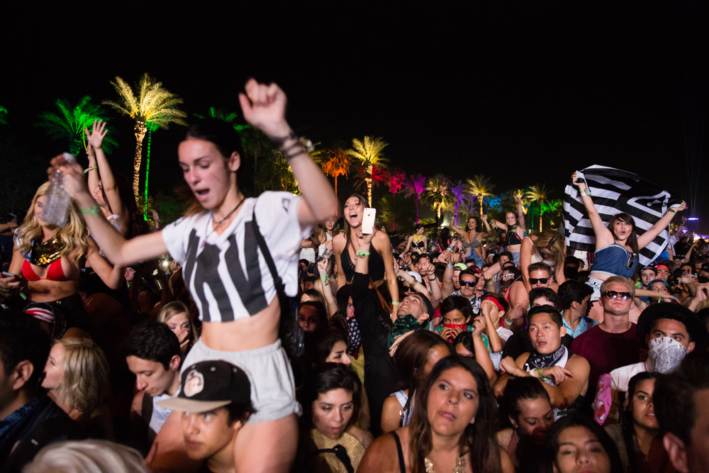 The crowd at Coachella.