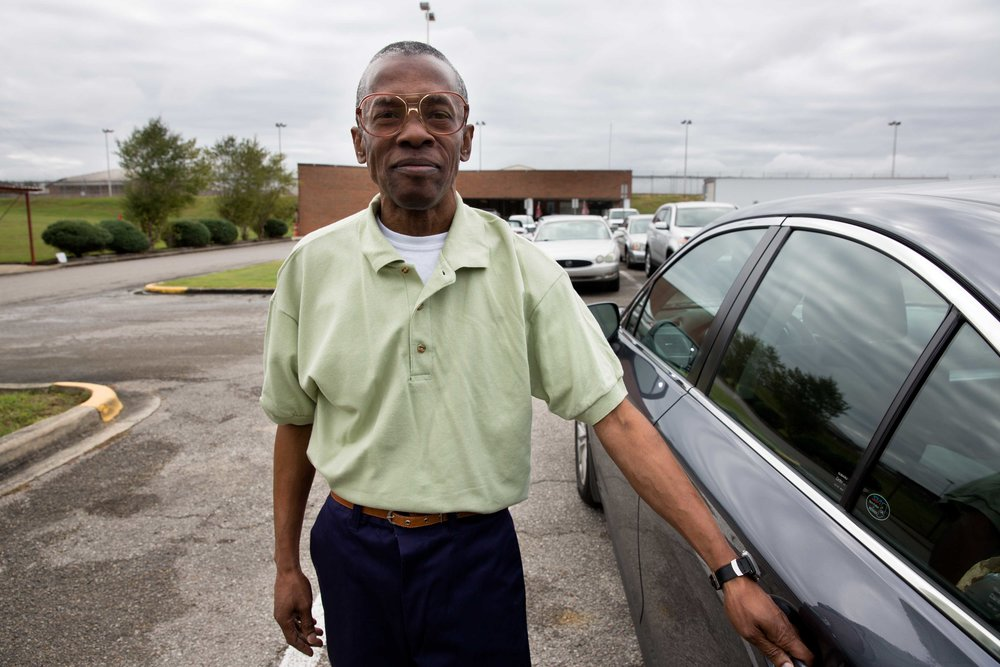 """Please see the slideshow and article on   Mother Jones Magazine .   Ronald, minutes after his release from St. Clair Correctional Facility in Alabama. """"When I wake up,"""" he said, """"it will be strange to me, because I'm so used to waking up in that little small cell with just a toilet and bed for so long. I'm going to think I'm dreaming or something."""""""